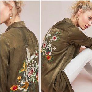 RIYA Batram Embroidered Shirtdress NWT Size 10